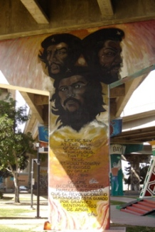 One of the murals in Chicano Park