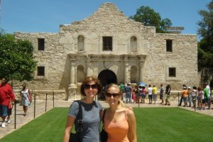 My roommate, Jessica, and I at the Alamo.