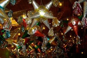 Stars on the ceiling of Mi Tierra Cafe in San Antonio