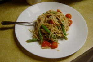 Whole wheat linguini with