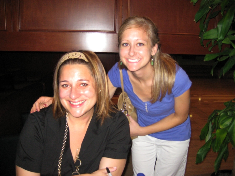 Me and Jennifer Weiner at The Poynter Institute