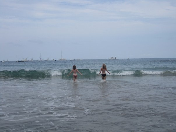 My friend Colleen and I did our fair share of cartwheeling, running and skipping along the beach.