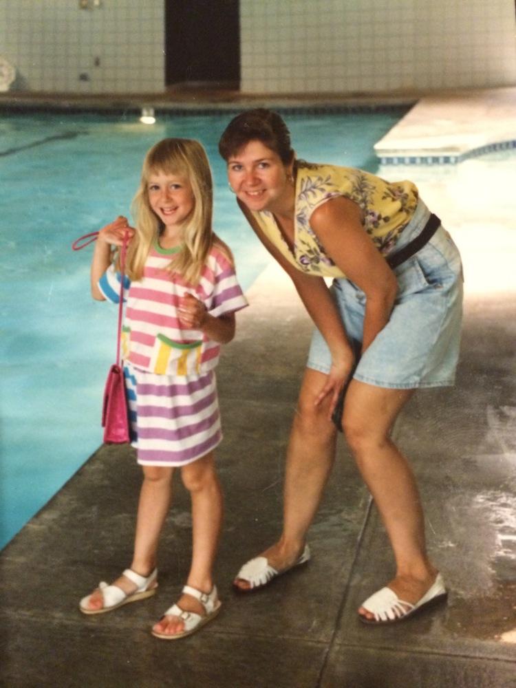 I'm lucky to have a lot of photos of me and my mom.